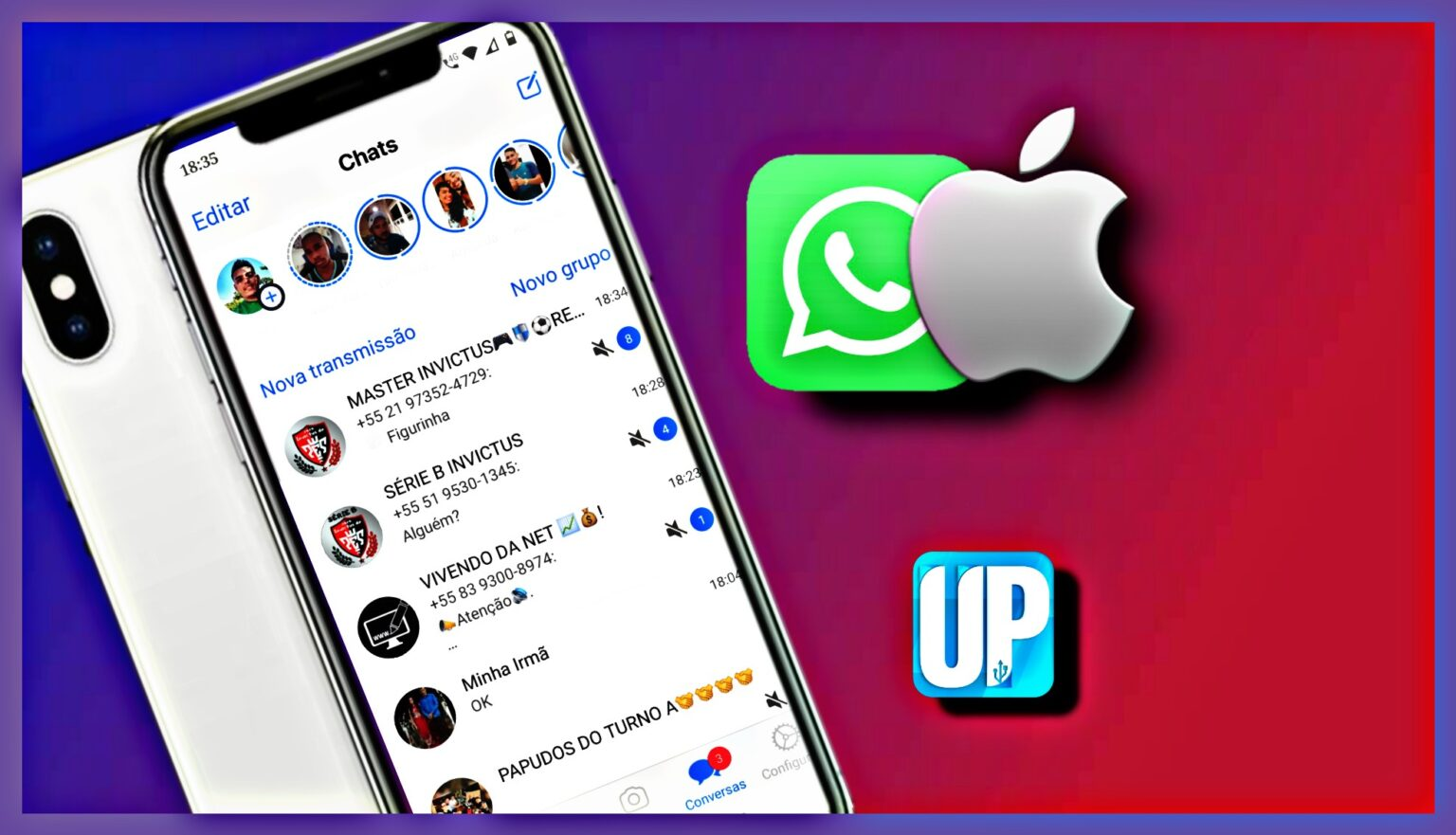 Novo whatsapp estilo iPhone 2021 - UP DROID